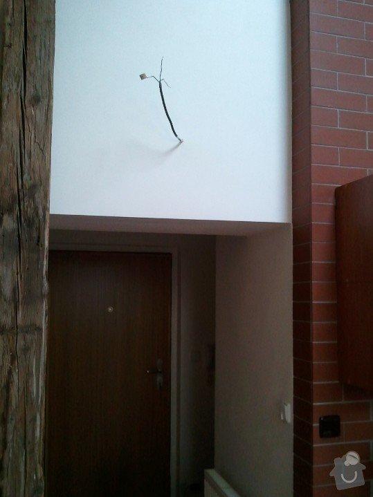 Odstranění dveří v sádrokartonové předsadbě a designová úprava - půdní vestavba: po01