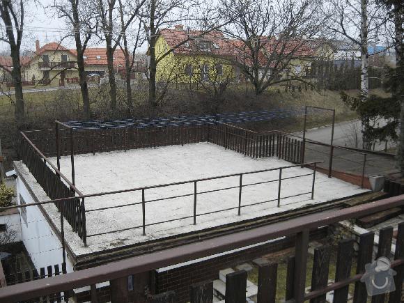 Hydroizolace terasy nad dvojgaráží.: Garaz-terasa