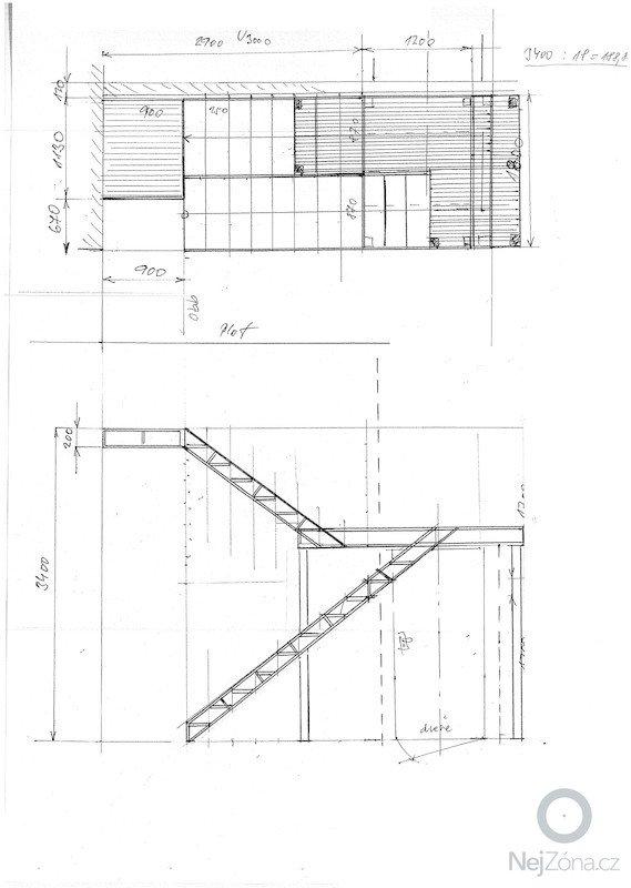 Venkovní schodiště do patra: navrh-schodiste