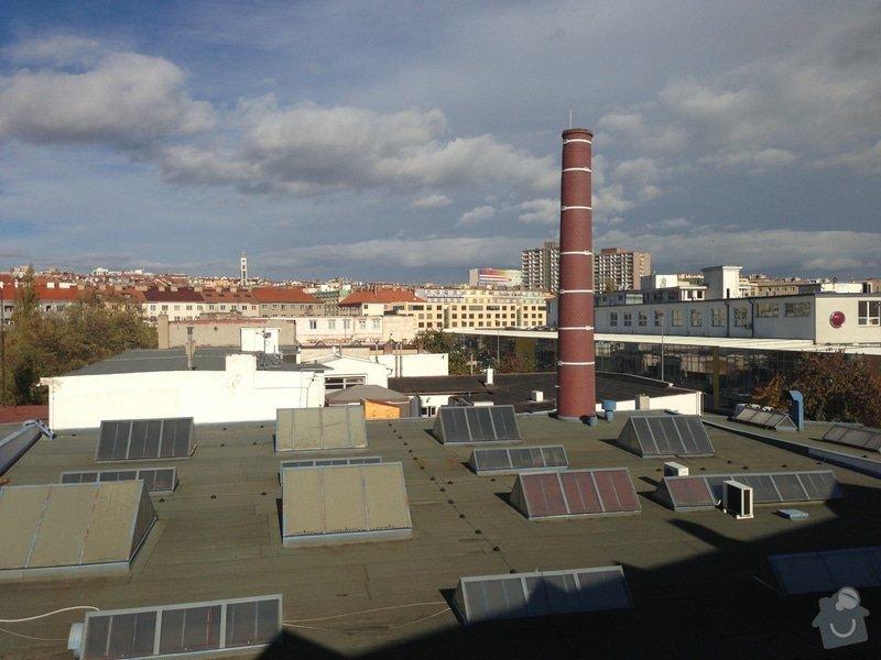 Instalace parabolických antén na průmyslový komín, Praha: IMG_0908