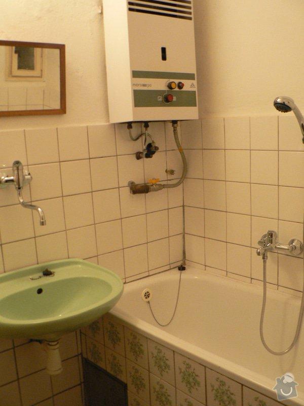 Výměna ohřívače vody, instalace sporáku: P1080188
