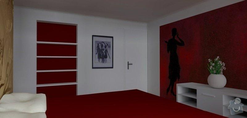 Návrh studentského pokoje: pohled_z_postele_na_dvere