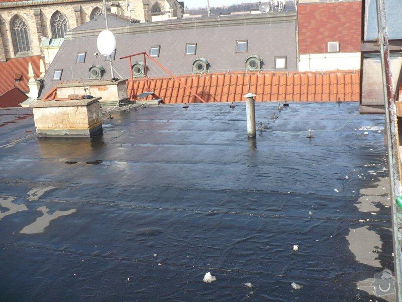 Oprava  ploché  střechy - IPA  izolaci cca 60 m2: P1060117