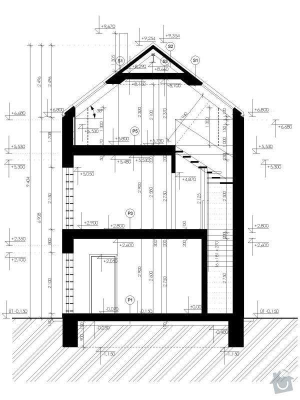 Dostavba řadového rodinného domu (interiér): RD_A_REZ