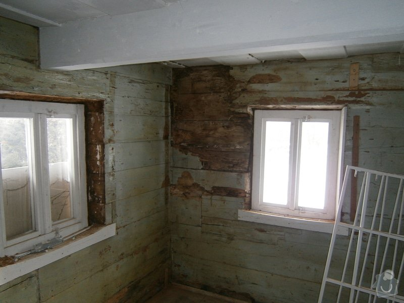 Vyzdění části podstávkového domu: P3250128
