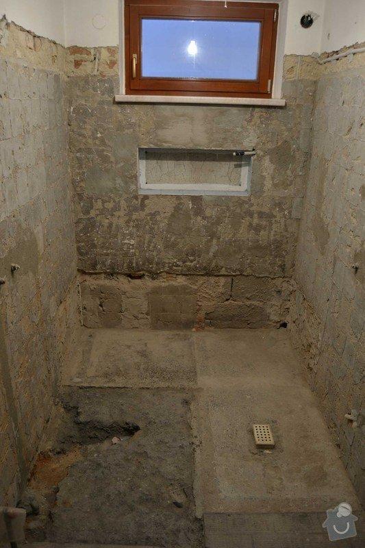 Rekonstrukce koupelny v rodinném domku: 1