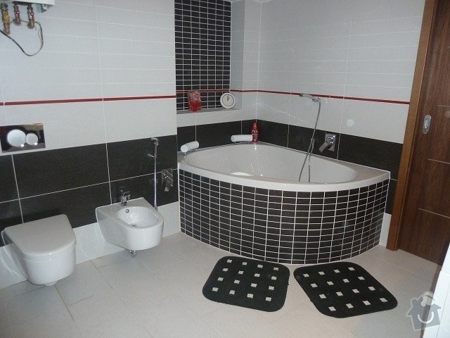 Kompletní rekonstrukce bytu: koupelna..