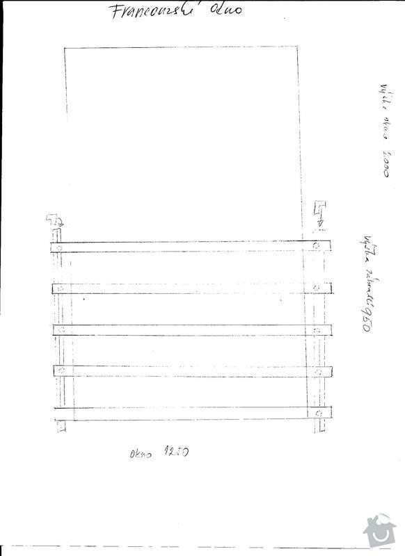 Výroba nerez zábradlí na 2 franc. okna a zábradí terasa : franc.okno