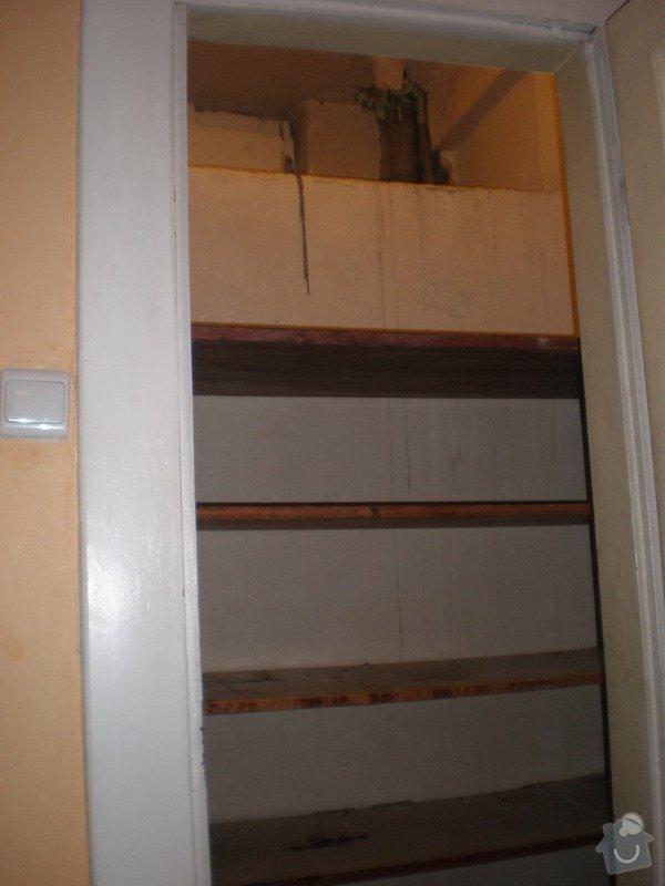 Rekonstrukce špajzu a bývalého záchodu na ložnici: P2121289