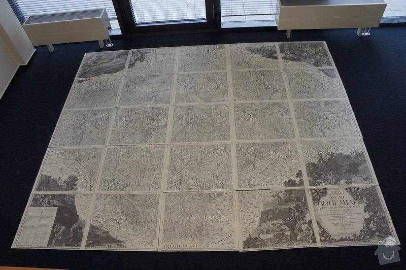Zarámování mapy 2,5 x 3 m: mapa_ramovani
