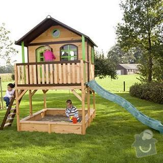 Dřevěný domeček pro děti na zahradu: marc