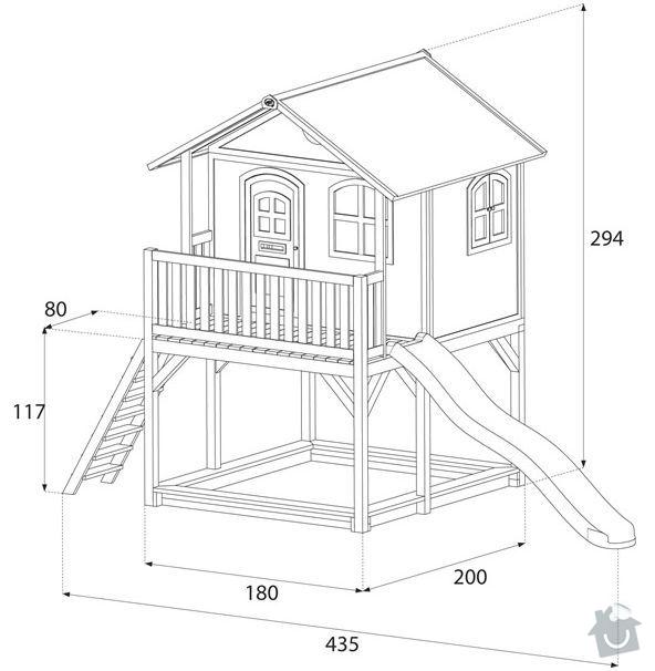 Dřevěný domeček pro děti na zahradu: marc2