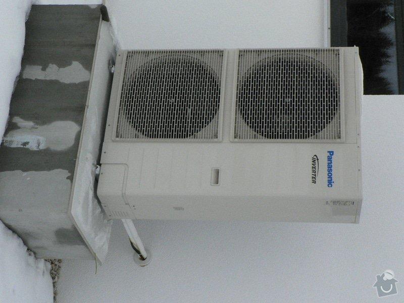 Montáž tepelného čerpadla a solárního systému s podlahovým topením: venkovni_jednotka