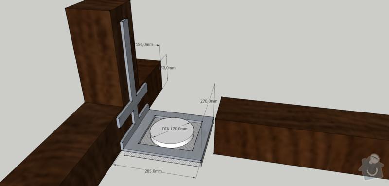 Ocelový nosník pro digestoř: digestor_nakres