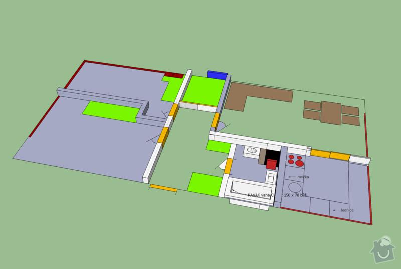Komplexní rekonstrukce bytu: navrh