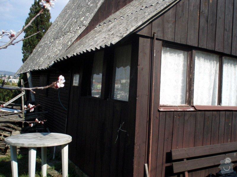Nátěr srubové chaty, oprava schodů ap.: P4020084