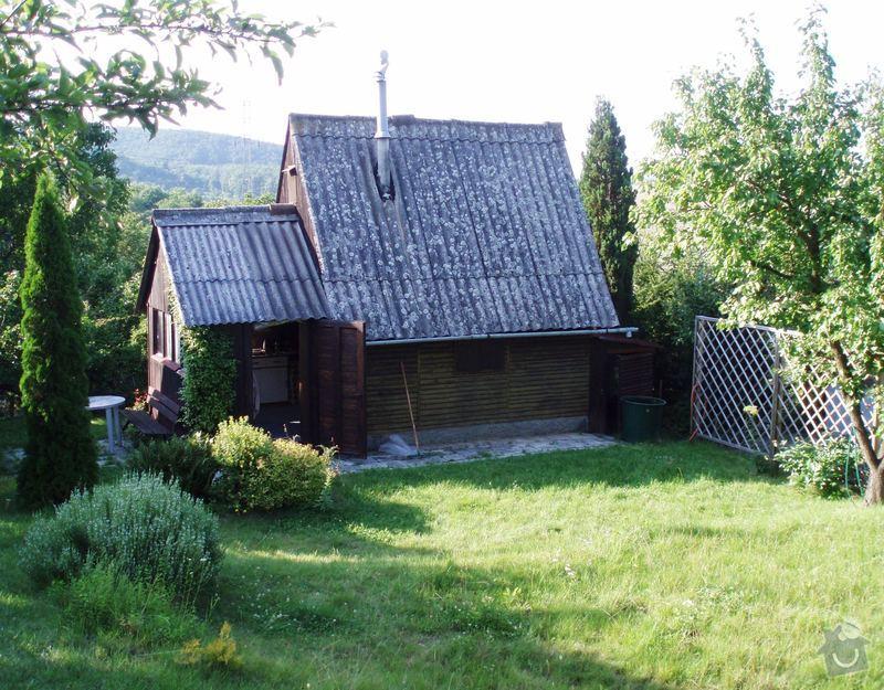 Nátěr srubové chaty, oprava schodů ap.: P7170386