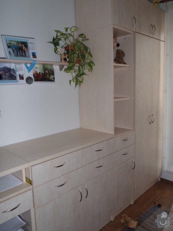 Výroba policové skříně do ložnicové sestavy: P4030001