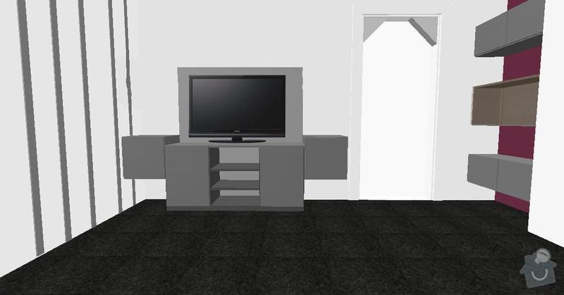 Stolařství - Televizní sestava, skříňky: 2_b.