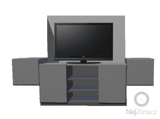 Stolařství - Televizní sestava, skříňky: 2_bez_hornich_polic