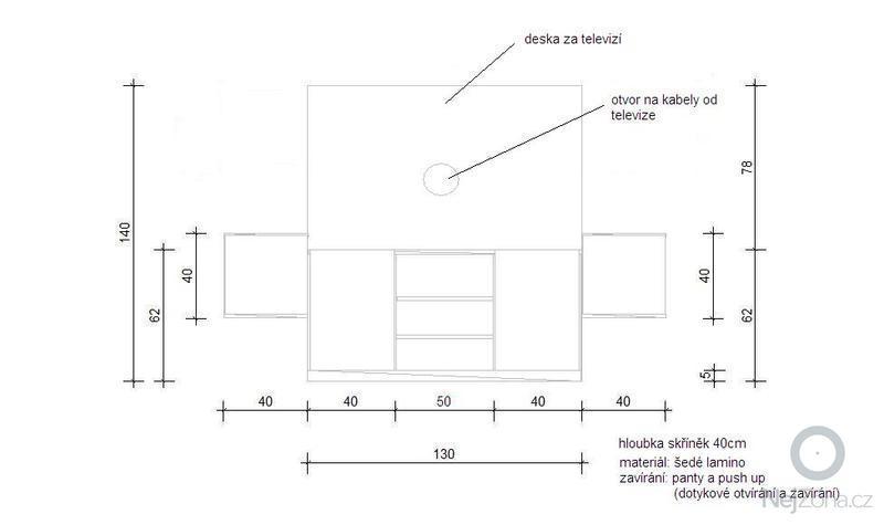 Stolařství - Televizní sestava, skříňky: capture34.