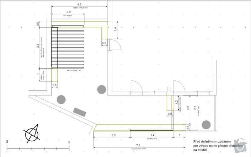 Výroba terasových truhlíků + pergola + lavice s uložným prostorem: koty_nadoby