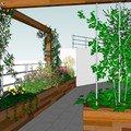 Vyroba terasovych truhliku pergola lavice s uloznym prostorem pohled od detskeho pokoje
