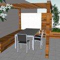 Vyroba terasovych truhliku pergola lavice s uloznym prostorem pohled pergola