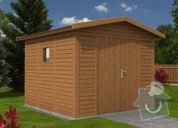 Montáž dřevěného zahradního domku: domek