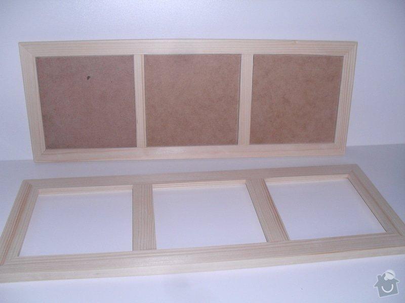 Výroba dřevěných fotorámečků: trojramecek