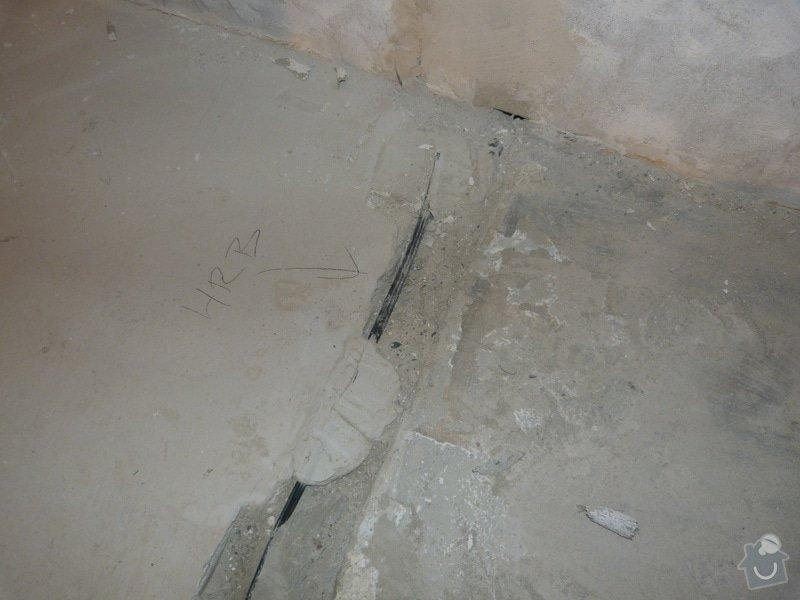 Rekonstrukce části bytu (obývací pokoj + kk) v panelovém domě: P1010683