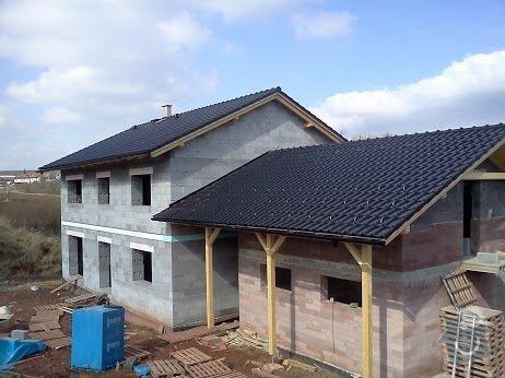 Zhotovení střechy RD a GAR: rd_strecha