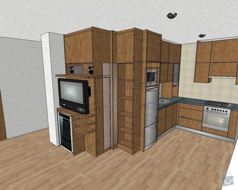 Kuchyňská linka na míru: kuchyn-0204-vizualizace