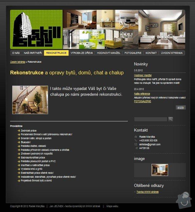 Tvorba WWW stránek www.skillstav.cz: skillstav