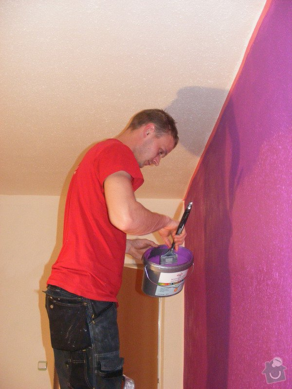 Vymalování ložnice,položení plovoucí podlahy,poskládaní skříně a postele: DSCF2583