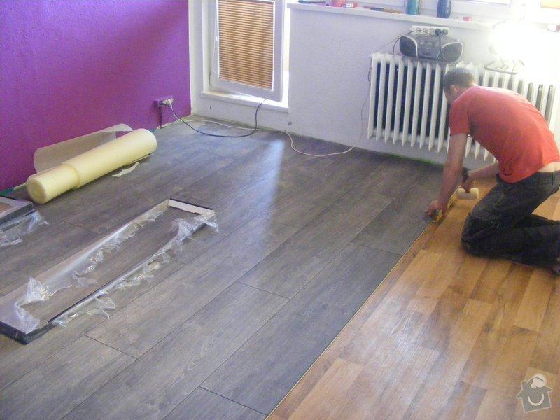 Vymalování ložnice,položení plovoucí podlahy,poskládaní skříně a postele: DSCF2587