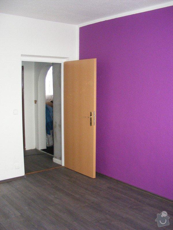Vymalování ložnice,položení plovoucí podlahy,poskládaní skříně a postele: DSCF2593
