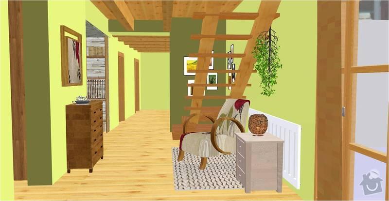 Návrh a vizualizace interiéru RD: chodba_vizualizace
