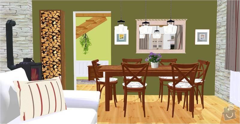 Návrh a vizualizace interiéru RD: jidelni_kout_vizualizace