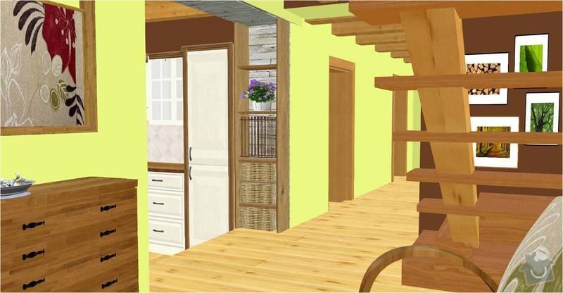 Návrh a vizualizace interiéru RD: vstup_do_kuchyne_vizualizace
