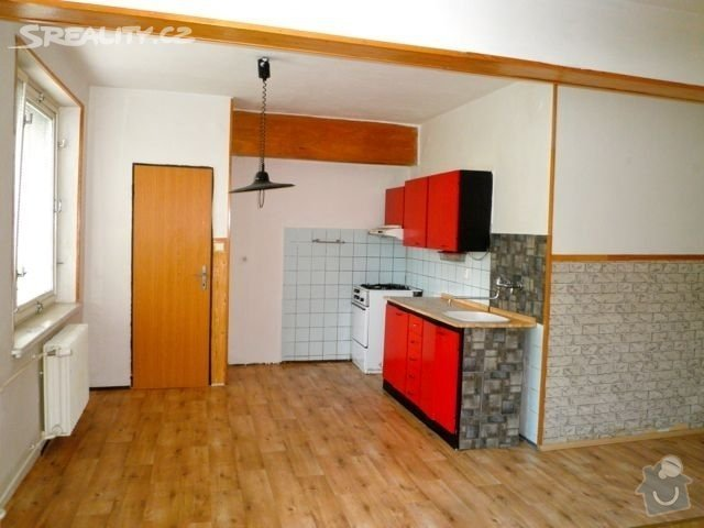 Příprava bytu na rekonstrukci, posunutí příček: kuchyn