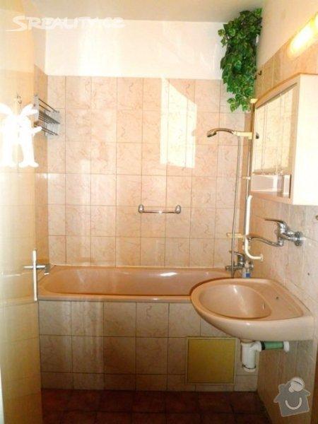 Příprava bytu na rekonstrukci, posunutí příček: koupelna