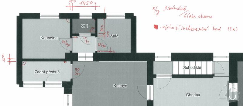 Bourání a přestavba příček v domě: 01Domek_nove