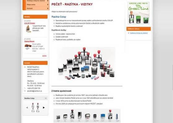 Tvorba WWW stránek http://www.razitka-pecet.cz/