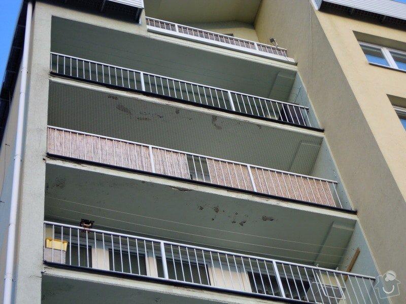 Zasíťování balkónu ochrannou sítí pro bezpečnost koček: DSCN4439
