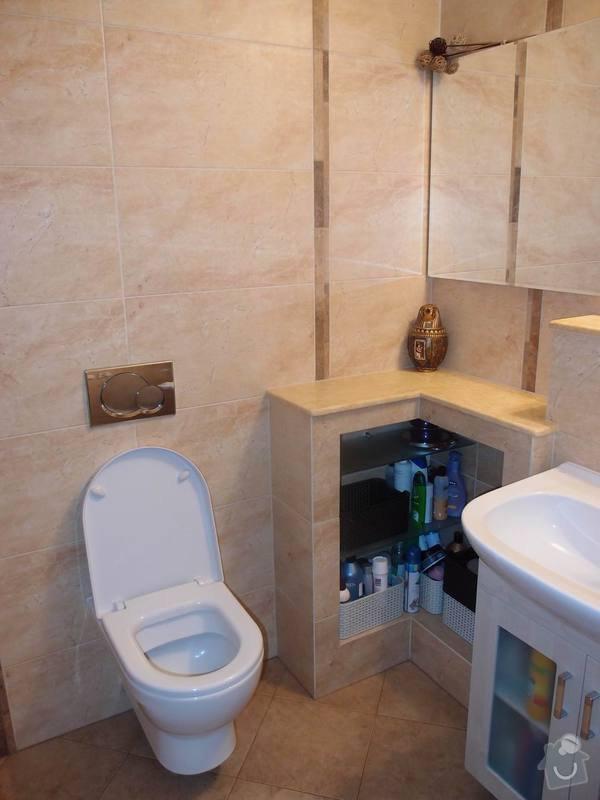 Obklady + podlahy v koupelnách, WC, kuchyni, omítky, vyzdění: roh_m