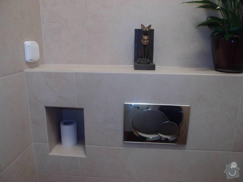 Obklady + podlahy v koupelnách, WC, kuchyni, omítky, vyzdění: WC1_m