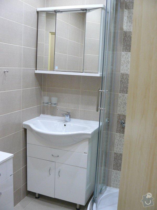 Totální rekonstrukce bytového jádra  včetně výměny podlah a obkladů, nová kuchyňská linka včetně vybavení přístroji, vestavěné skříně v předsíni, vybavení jídelního koutu nábytkem, pokládka plovoucí podlahy v pokoji, celková rekonstrukce elektroinstalace : P1050301