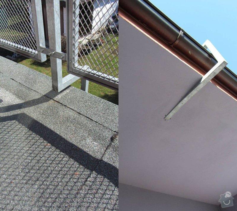 Rekonstrukce ploché střechy - terasy: sloupek_detail