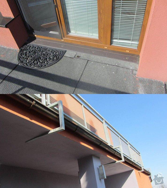 Rekonstrukce ploché střechy - terasy: vstup_kotveni